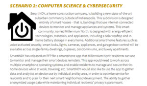 A description of scenario 2 from the Proposal Project, which details the creation of an app for residents of a new smart-home community. Full information in an accessible document is available at the link.